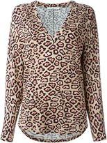 Givenchy leopard print T-shirt - women - Viscose/Spandex/Elastane - 36