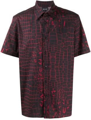 Just Cavalli Crocodile Print Short Sleeve Shirt