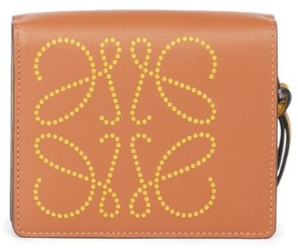 Loewe Dotted Leather Zip Wallet
