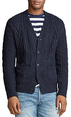 Polo Ralph Lauren Aran Cotton-Blend Cardigan Sweater