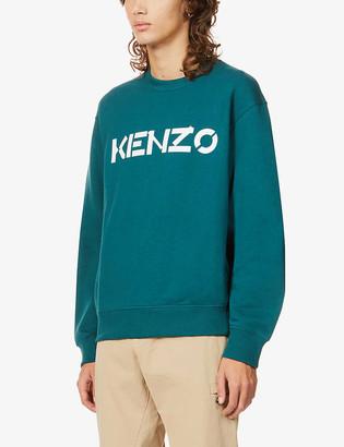 Kenzo Graphic-print crewneck cotton-jersey sweatshirt