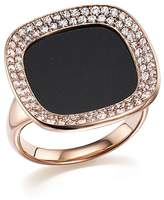 Roberto Coin 18K Rose Gold Carnaby Street Diamond and Black Jade Ring