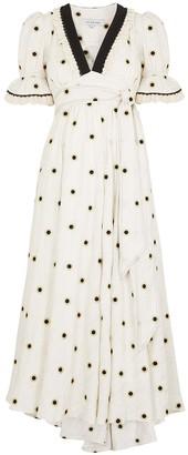 Sabrina embroidered cotton-blend maxi dress