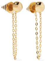 Noir Bumblebee gold-tone, crystal and enamel earirngs