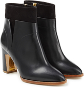 Rupert Sanderson Woodlea Leather and Suede Ankle Boots