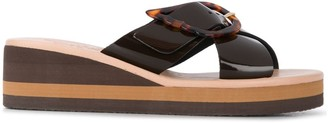 Ancient Greek Sandals Thais Rainbow wedge sandals