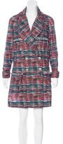 Chanel Tweed Print Trench Coat