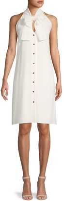 Lafayette 148 New York Bow-Front Sleeveless Shift Dress