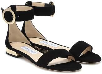 Jimmy Choo Jamie Flat suede sandals
