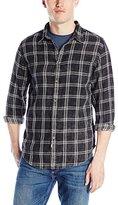 Calvin Klein Jeans Men's Acid Wash Double Cloth Check Shirt
