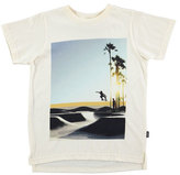 Molo Read Graphic Skater Tee, White, Size 4-12