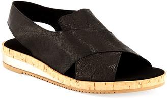 Sesto Meucci Sabita Demi-Wedge Flat Sandal, Black