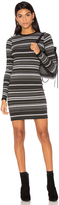 Twenty Cascade Stripe Bodycon Dress