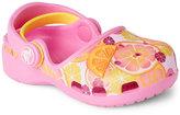 Crocs Toddler/Kids Girls) Party Pink & Lemon Karin Mary Jane Clogs