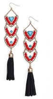 Adia Kibur Women's Stone & Tassel Drop Earrings