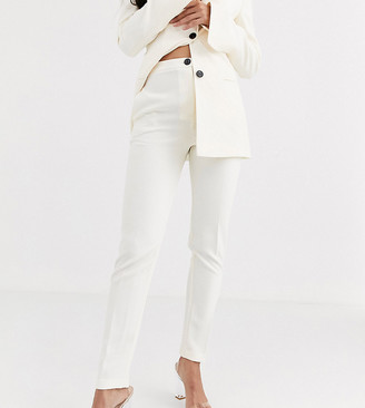 Asos Tall ASOS DESIGN Tall pop slim suit trousers in ivory