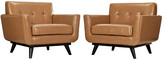 Modway Engage Armchair Leather Set