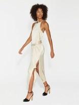 Halston Satin Slip Dress