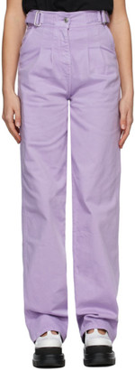 MSGM Purple Baggy Jeans