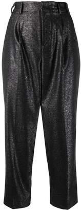 Pt01 metallic cropped trouser