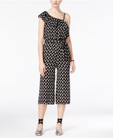 As U Wish Juniors' One-Shoulder Gaucho Jumpsuit