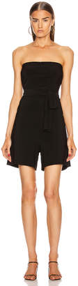 Norma Kamali TY Front All In One Strapless Jumpshort in Black | FWRD