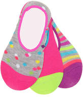 Stride Rite Confetti Dot Infant, Toddler, & Youth No Show Liners - 3 Pack - Girl's