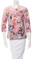 Mary Katrantzou Printed Three-Quarter Sleeve Top