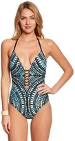 Kenneth Cole Desert Romance Plunge One Piece Swimsuit 8151088