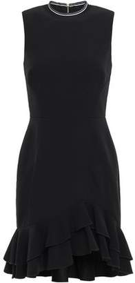 Rebecca Vallance Ruffled Crepe Mini Dress