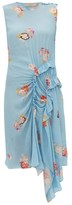 Preen Line Antoinette Ruffled Floral-print Crepe Dress - Womens - Blue Multi