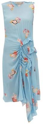 Preen Line Antoinette Ruffled Floral-print Crepe Dress - Womens - Blue Multi