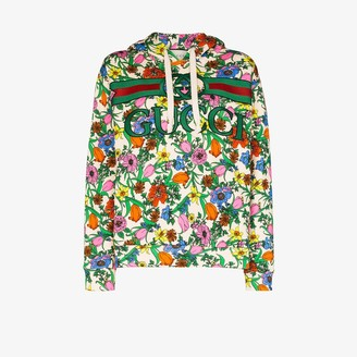 Gucci Pop Flora printed hoodie