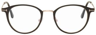 Tom Ford Black Blue Block Metal Round Glasses