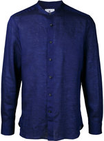 Kent & Curwen band collar shirt - men - Linen/Flax - S