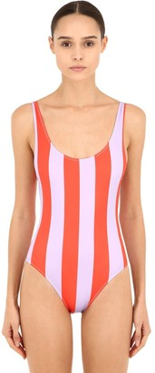 Solid & Striped Striped One Piece Swimsuit