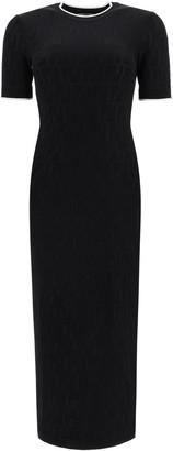 Fendi FF Motif Jacquard Fitted Dress