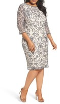 Pisarro Nights Plus Size Women's Sequin Embroidered Sheath Dress