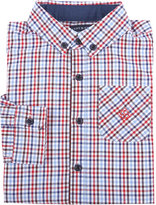 Andy & Evan Childrenswear Long-Sleeve Check Poplin Shirt, Red, Size 2-7