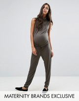 Missguided Maternity Slouch Ribbed High Neck Jumpsuit