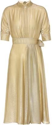 Prada Lame silk blend velvet dress