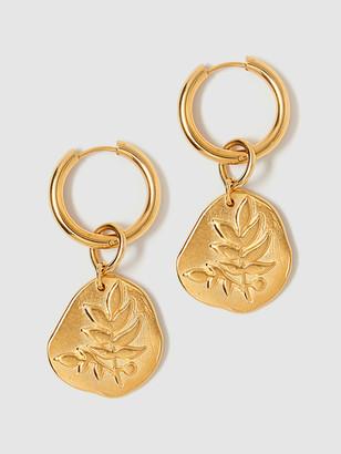 Tess + Tricia Bloom Luxe Large Frond Hoop Earrings