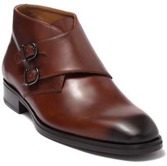 Bruno Magli Alberto Leather Monk Strap Chukka Boot