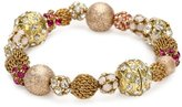 "Swarovski Lenora Dame ""Retro"" All Decked Out in Pink Stretch Bracelet"