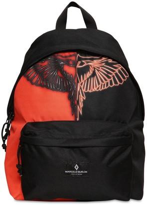 Marcelo Burlon County of Milan Color Block Nylon Canvas Backpack
