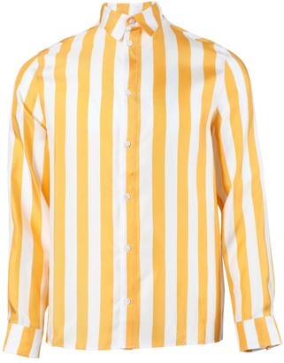 Amiri Striped Button-up Shirt Yellow/white