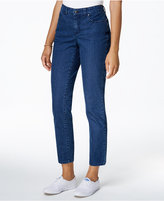 Charter Club Petite Bristol Dot-Printed Skinny Ankle Jeans, Only at Macy's