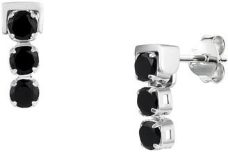 Tsai X Tsai San Shi Black Spinel Stud Earrings, Sterling Silver