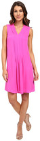 Rebecca Taylor Sleeveless Silk Double Georgette V-Neck Dress