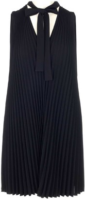 RED Valentino Pleated V-Neck Mini Dress